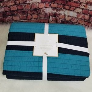POTTERY BARN TEEN RUGBY STRIPE FULL QUEEN  QUILT